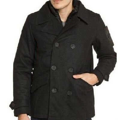 English Laundry Double Brested Peacoat 6Pcs [Ome240H_Blac]