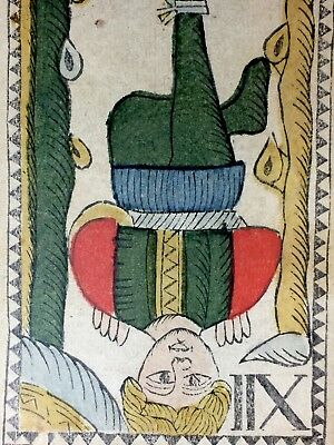 The Hanged Man c1768 Authentic Major Arcana Tarot Playing Cards Woodcut Single
