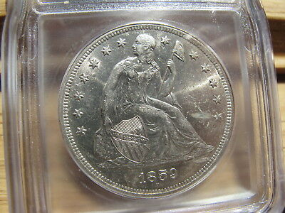 1859-O Liberty Seated Dollar graded MS-60 Details