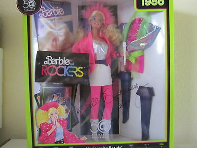 BRAND NEW My Favorite Barbie~~ 50th Anniversary~~ BARBIE AND THE ROCKERS: SIGNED