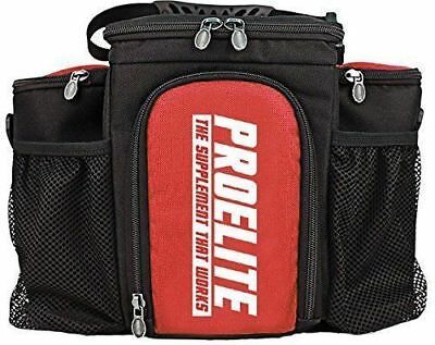 Pro Elite 3 Meal Bag Insulated Cooler Bag Meal Prep Food Bag + 3 Containers Red