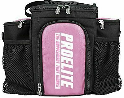 Pro Elite 3 Meal Bag Fitness Meal Prep Food Box Organiser Pink + 3 Containers