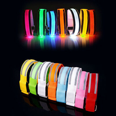 Reflective LED Light Arm Strap Belt Safety Armband For Night Running Cycling #99