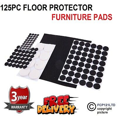 2 x Am-Tech 125pc Floor Protector Furniture Self Adhesive Anti Skid Felt Pads