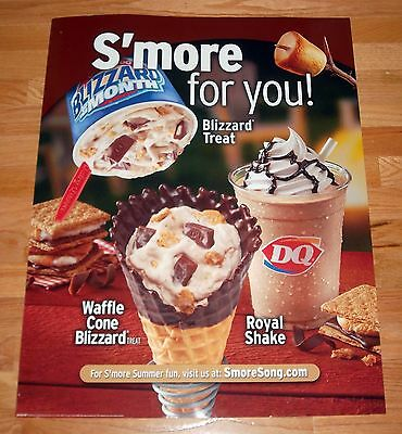 Dairy Queen Paper Stock Poster Advertising a S'more Blizzard - GREAT CONDITION!