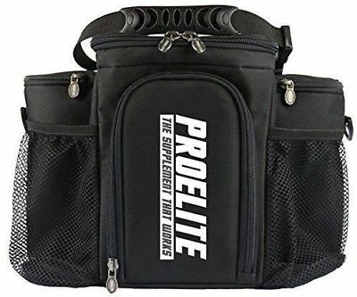 Pro Elite 3 Meal Bag Food Prep Management  Adjustable Strap Black+Food Container