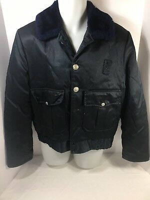 Vintage TUFFY ANR Blue Law Enforcement Police Jacket (M) Quilted Lining 70's