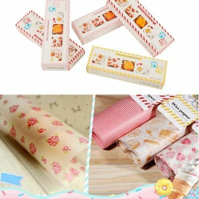 50pc Wax Paper Waterproof Food Wrapping Paper Greaseproof Baking Packaging Paper