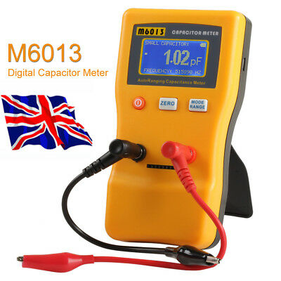 M6013 Digital LCD Capacitor Capacitance Meter Tester 0.01pF to 470000uF Auto UK
