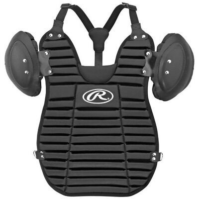"Rawlings Adult Umpire Chest Protector Pad Vest Style 13.25"" Black UGPC"