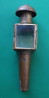 Small Brass Candle Powered Carriage Lamp