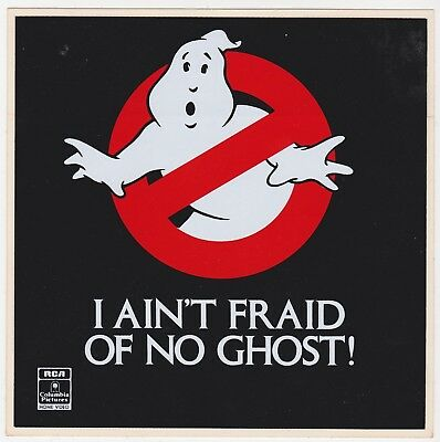 Ghostbusters I Aint Fraid of No Ghost RCA Video Promo Window Sticker 1985 UNUSED
