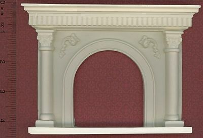 Dollhouse Miniature Arched Fireplace by Unique Miniatures (UMF21)