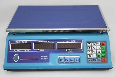 40KG Digital Price Computing Retail Weight Scale Shop Commercial Dual Display
