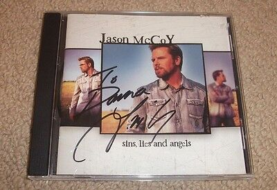 Jason McCoy -SIGNED Sins, Lies & Angels CD *Autographed* Canadian Country Singer