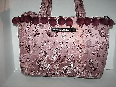 Retired PETUNIA PICKLE BOTTOM Pink POM POM Asian Print Toddler TOTE Diaper Bag