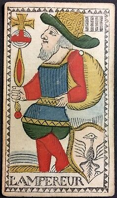 The Emperor c1768 Authentic Major Arcana Tarot Playing Cards Woodcut Single