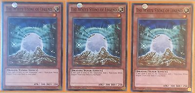 Playset 3 X Ldk2-Enk04 The White Stone Of Legend 1St Edition Mint