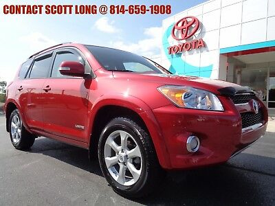 2010 Toyota RAV4 2010 Limited All Wheel Drive Red AWD 2010 Rav4 Limited AWD Sunroof Heated Leather Seats Rear Camera Barcelona Red 4WD