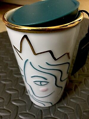 NWT 2017 starbucks anniversary siren mermaid 12 oz. ceramic tumbler