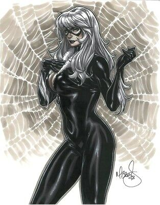 Mark Brooks - BLACK CAT (Felicia Hardy) ORIGINAL ART 11x14 NM