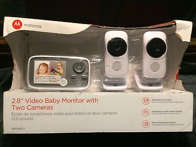 Motorola WiFi Connect Digital Video Color Screen Baby Monitor with 2 cameras NEW