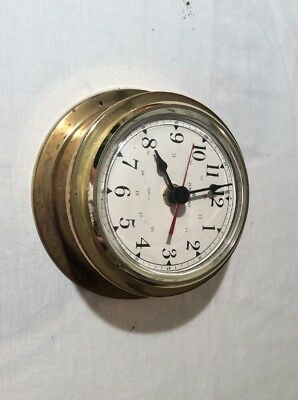 Junghans Brass Ships Style Clock