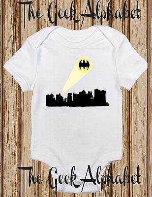 Gotham Signal  -New York  Bat Girl Clothing - Funny One piece Romper Gift Geek