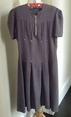 LOVELY 30's DAY DRESS W. FRONT PLEATED & STITCHED DETAIL - XS ADULT OR GIRL'S