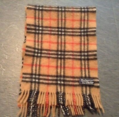 Designer Burberry London 100% Lambswool Scarf