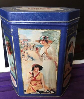 Tin Box Vintage Ladies Coca-Cola Tin