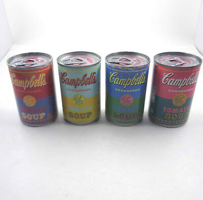 Set of 4 Andy Warhol Campbell's Tomato Soup Cans Pop Art 50th Anniversary Target