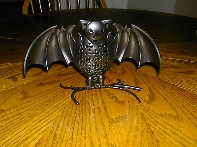 Partylite Night of the Bats Votive Tealight Candle Holder Halloween Black