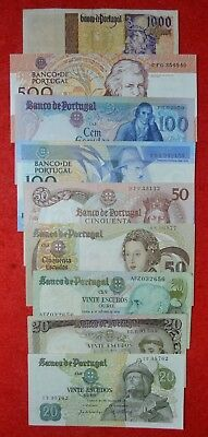 Portugal / Lot of 9 notes / Republica Portuguesa