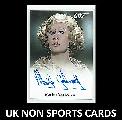 James Bond 50th Anniversary S2 Autograph Marilyn Galsworthy Stromberg Assistant
