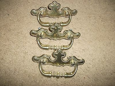 lot of 3 vintage drawer hardware pulls.winter products