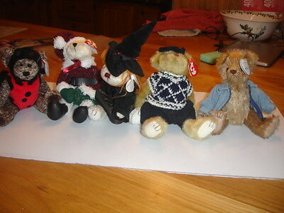Ty Retired Attic Bears   Jointed  New Bugsy, Santabear, Hagatha, Mulligan, Tudor