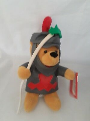 Disney Winnie the Pooh Knight in Armor Bean Bag Plush