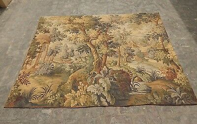 Stunning Large Vintage French Aubusson Style Verdure Tapestry 181X143cm (A1233)