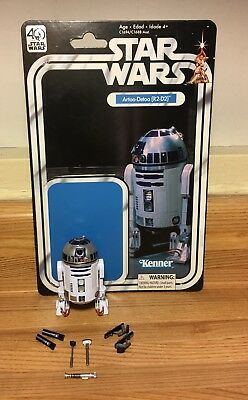 """Star Wars 40th Anniversary Black Series 6"""" R2-D2 Loose with Card!"""