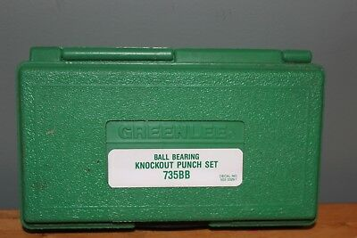 GREENLEE 735BB Ball Bearing Knockout Punch Set Hardly Used