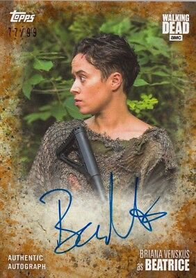 The Walking Dead Season 7 - Briana Venskus (Beatrice) Rust Autograph A-Bv 77/99