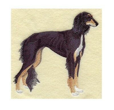 Completed Machine Embroidered Saluki Dog