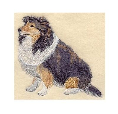 Completed Machine Embroidered Shetland Sheepdog