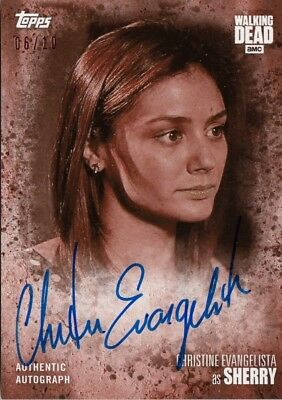 The Walking Dead Season 7 - Christine Evangelista (Sherry) Sepia Autograph 06/10