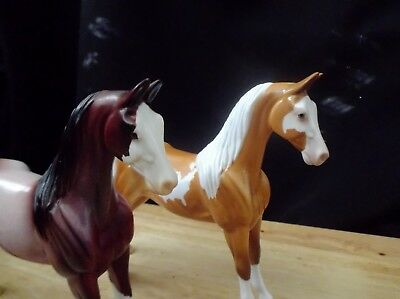 Peter Stone Pebble Pair Saddlebred Glory and Chespeake Spice both glossy