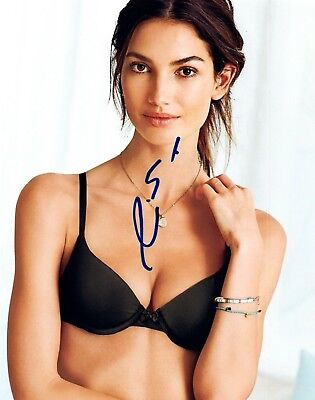 Lily Aldridge Signed Autographed 8x10 Photo SI Swimsuit Model Hot Sexy COA VD