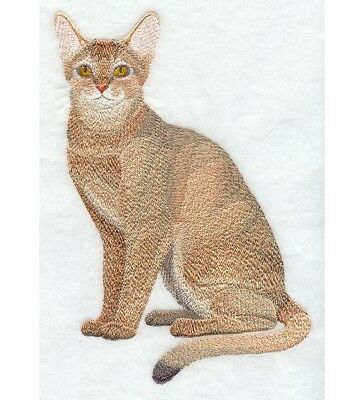 Completed Machine Embroidered Abyssinian Cat