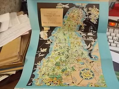 1930s CARTOGRAPH PICTORIAL MAP, SAN MATEO COUNTY, CALIFORNIA BY RUTH TAYLOR GGIE