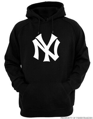 NY - Black Hoodie New York Yankees Champs Fan Empire State Mind All Sizes S-2XL